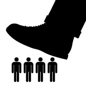 33880490-stock-vector-black-cartoon-vector-silhouette-of-a-large-foot-about-to-tramp-a-row-of-people-conceptual-of-oppress